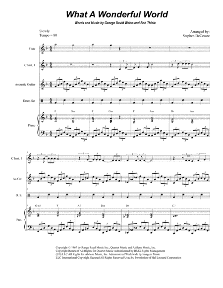 What A Wonderful World (Duet for C-Instruments)