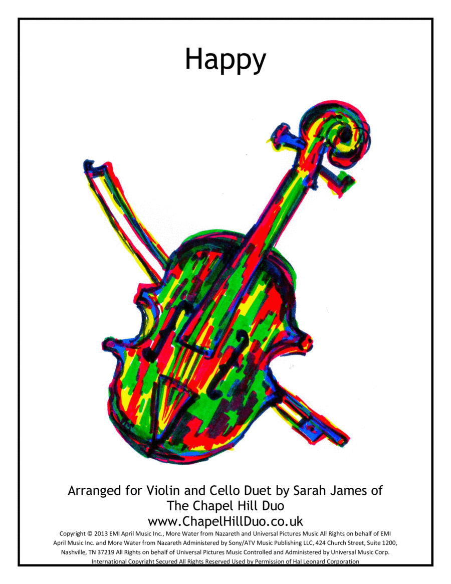 Happy - Violin & Cello Arrangement by The Chapel Hill Duo