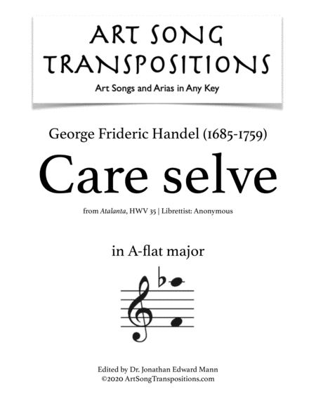 Care selve (A-flat major)
