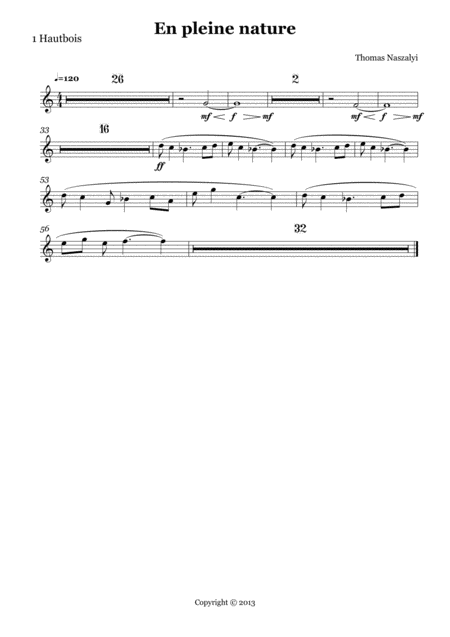En Pleine Nature/Oboe PART