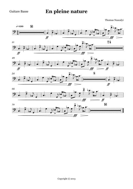 En Pleine Nature/Bass Guitar PART