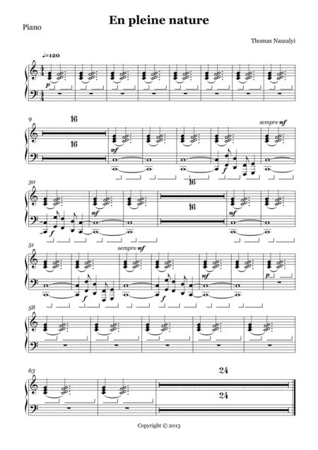 En Pleine Nature/Piano PART