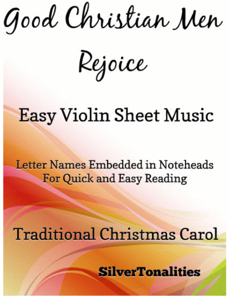 Good Christian Men Rejoice Easy Violin Sheet Music