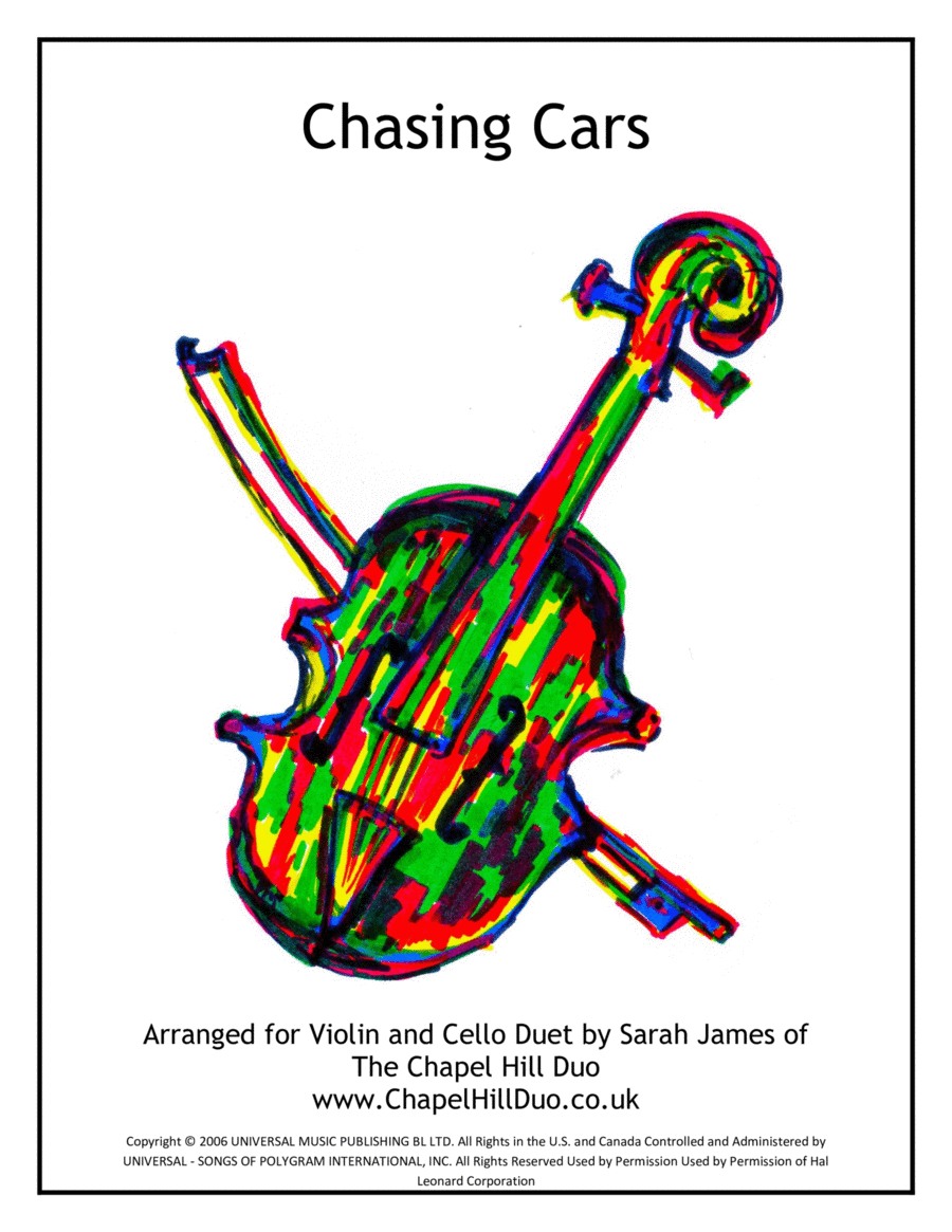Chasing Cars - Violin & Cello Arrangement by The Chapel Hill Duo