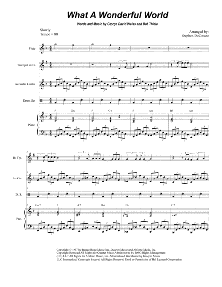 What A Wonderful World (Duet for Bb-Trumpet and French Horn)