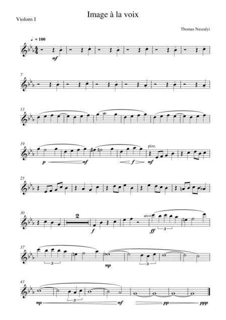 Image à la Voix/Violin 1 PART