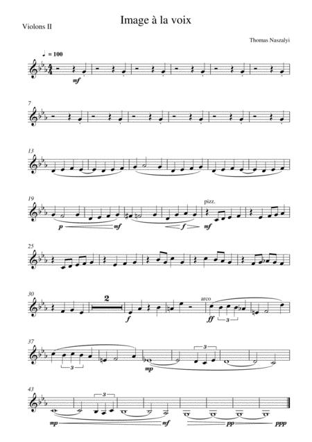 Image à la Voix/Violin 2 PART