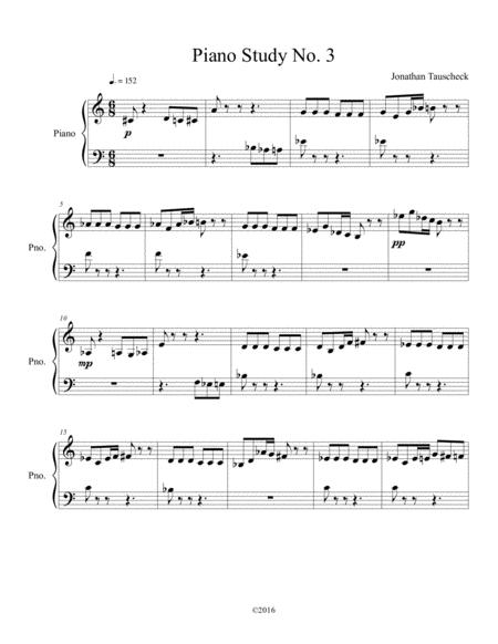 Piano Study No. 3,