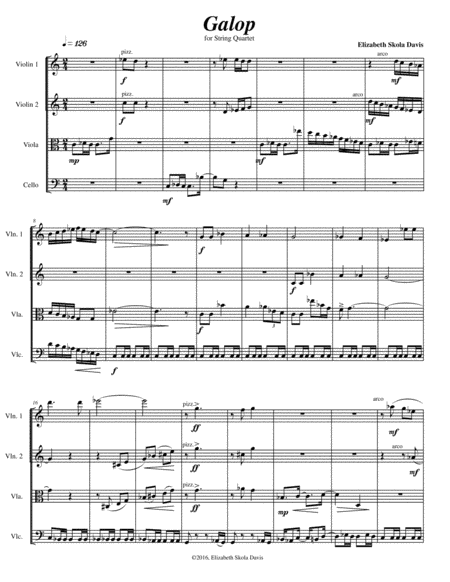 Galop for string quartet