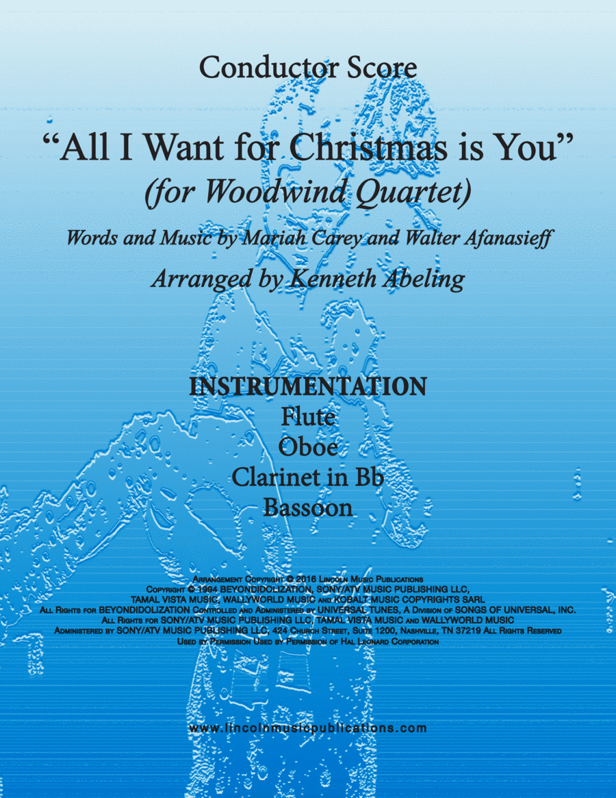 All I Want For Christmas Is You (for Woodwind Quartet)
