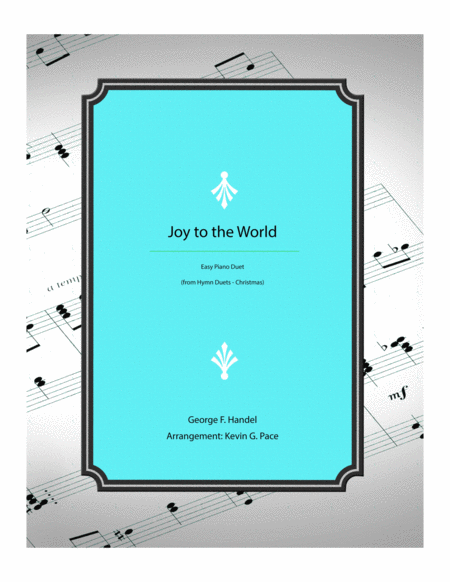 Joy to the World - easy piano duet