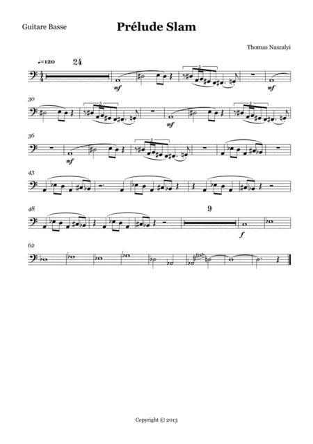 Prélude Slam/Bass Guitar PART