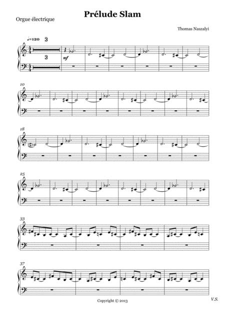 Prélude Slam/Electric Organ PART