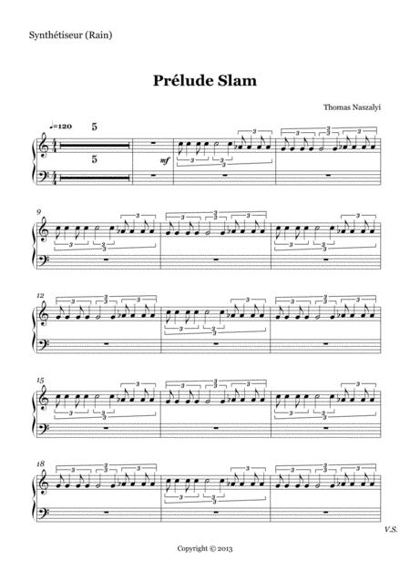Prélude Slam/Synthesizer 1 PART