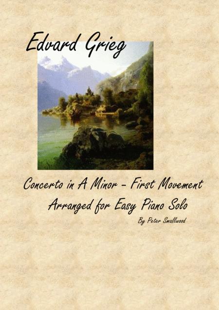 Grieg Piano Concerto - First Movement - Piano Solo
