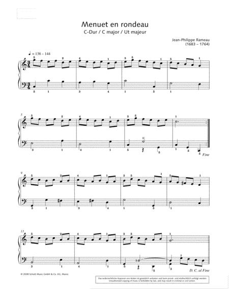 Menuet en rondeau in C major