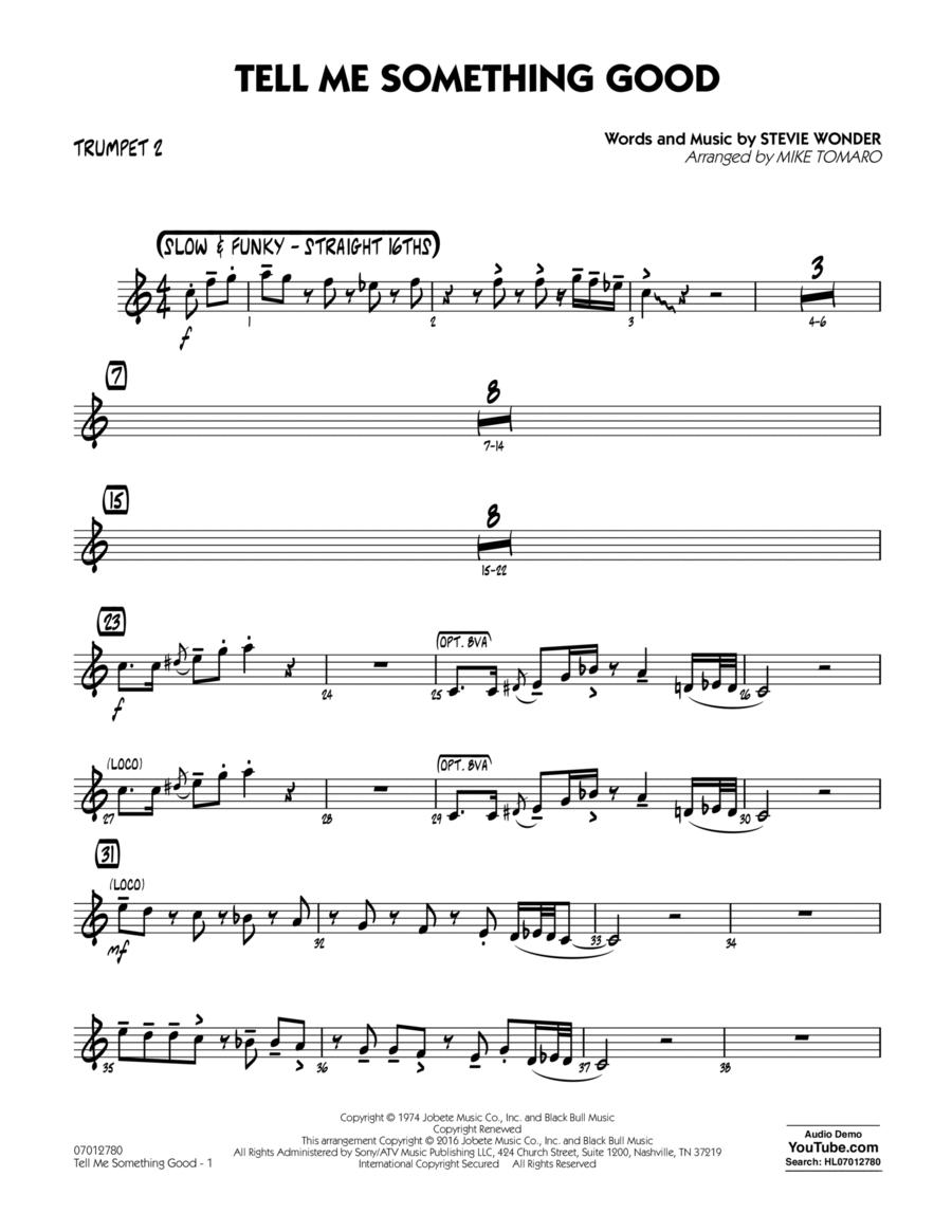 Tell Me Something Good - Trumpet 2