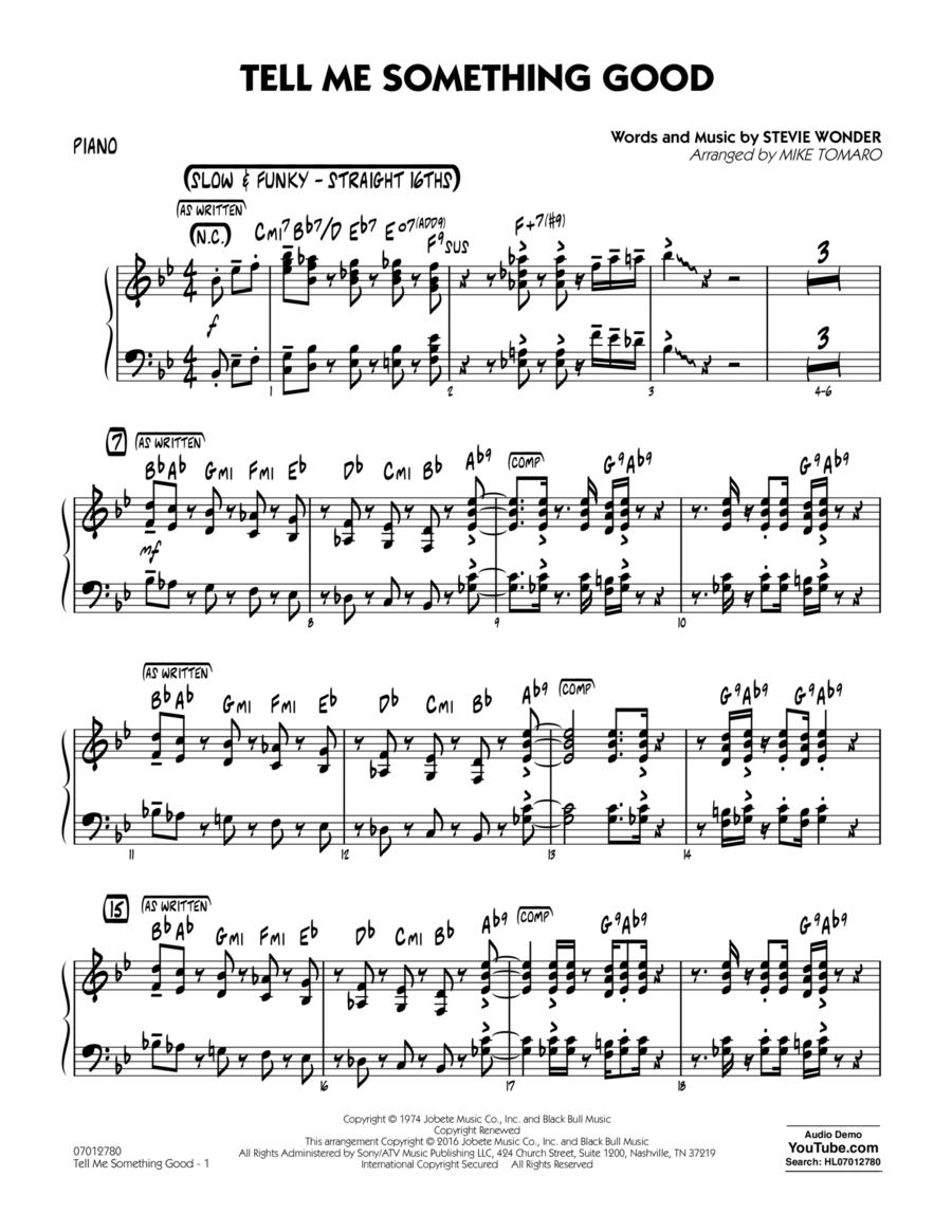 Tell Me Something Good - Piano