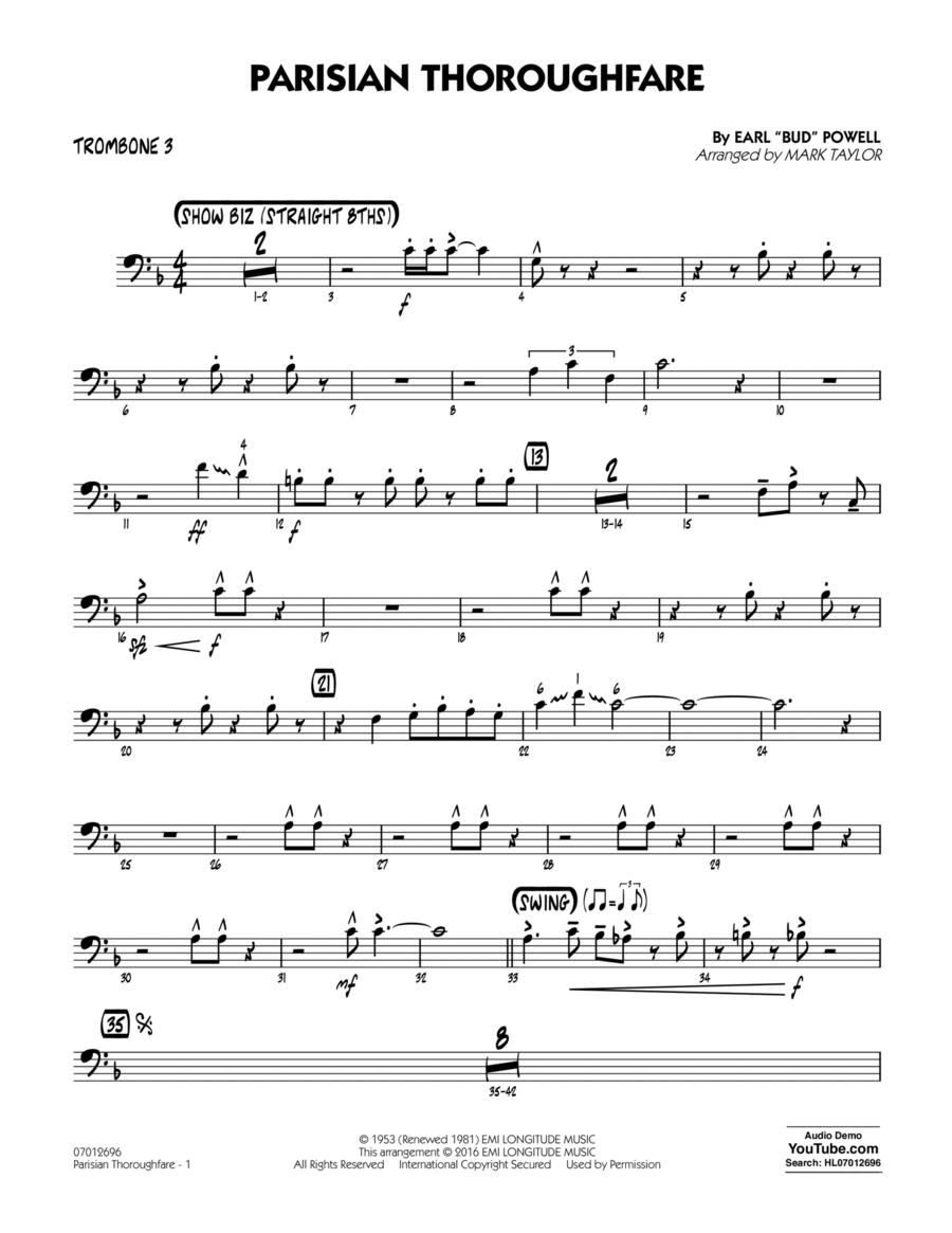 Parisian Thoroughfare - Trombone 3