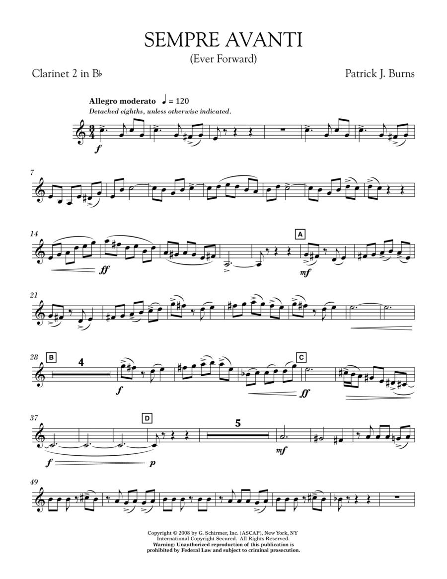 Sempre Avanti - Bb Clarinet 2