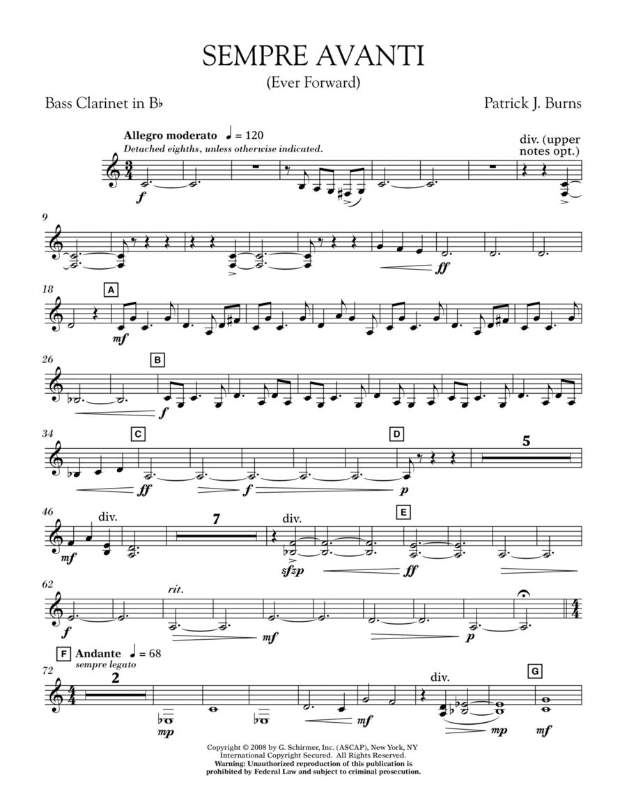 Sempre Avanti - Bb Bass Clarinet