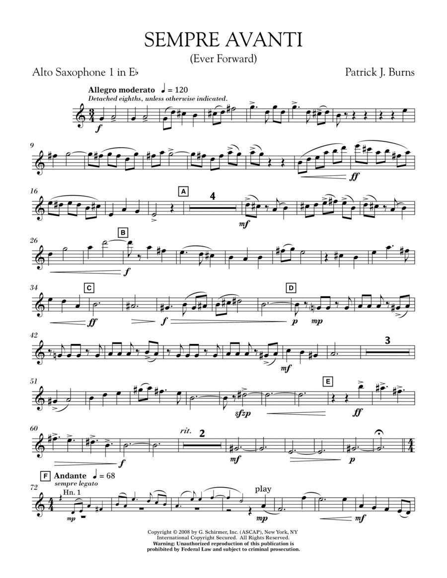 Sempre Avanti - Eb Alto Saxophone 1