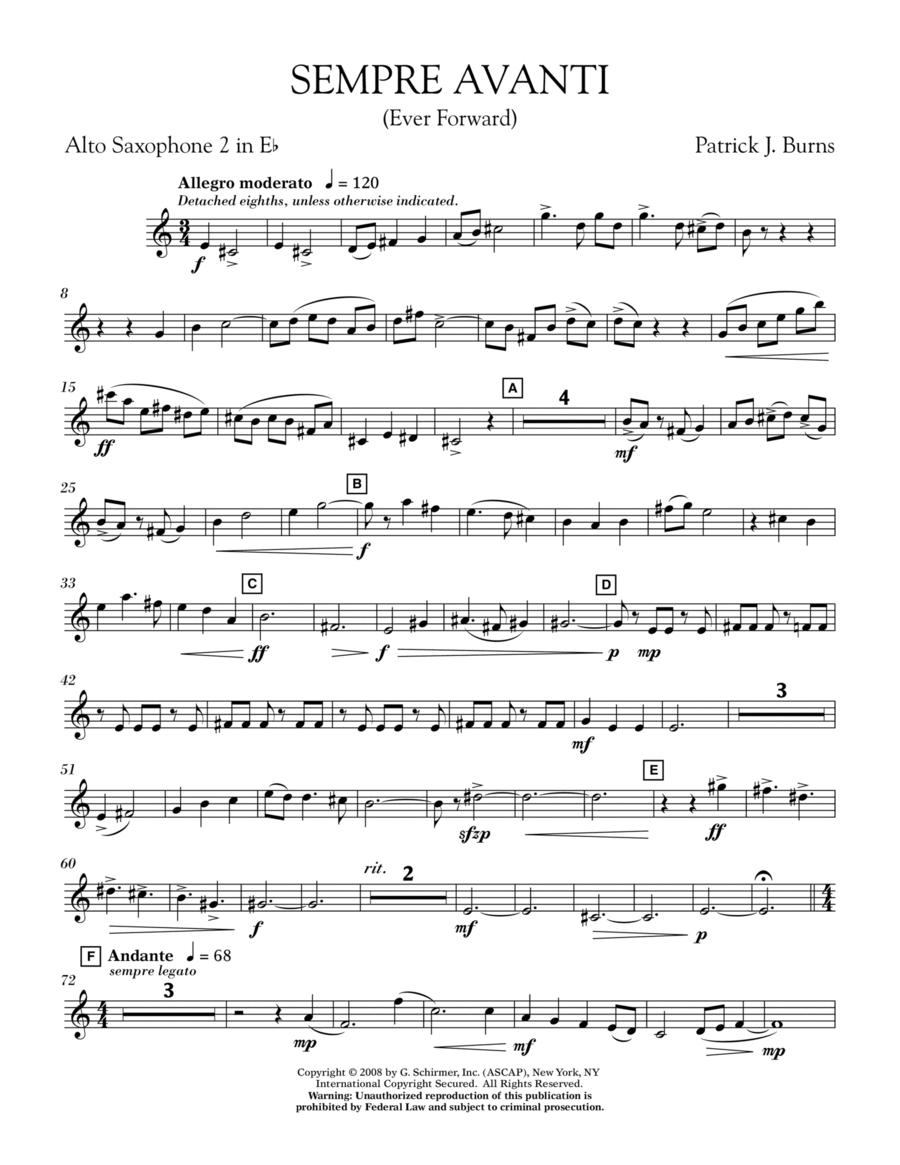 Sempre Avanti - Eb Alto Saxophone 2