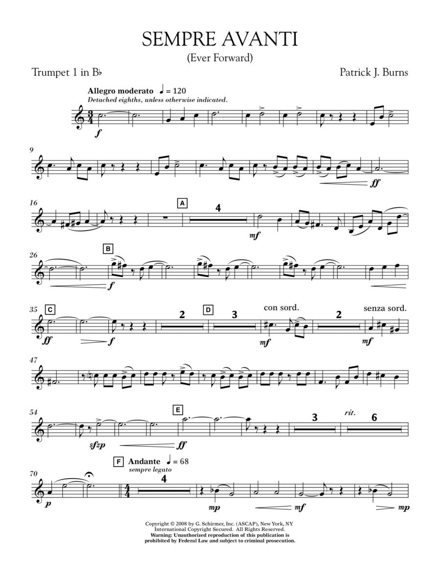 Sempre Avanti - Bb Trumpet 1