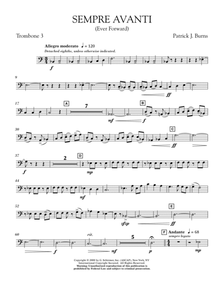 Sempre Avanti - Trombone 3