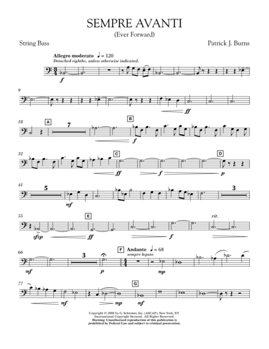 Sempre Avanti - String Bass