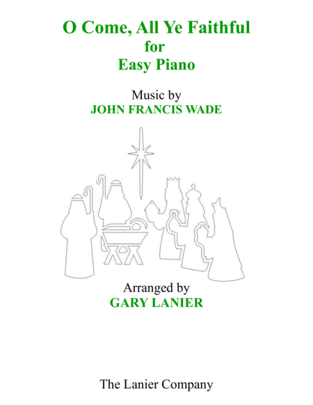 O COME, ALL YE FAITHFUL (for Easy Piano)