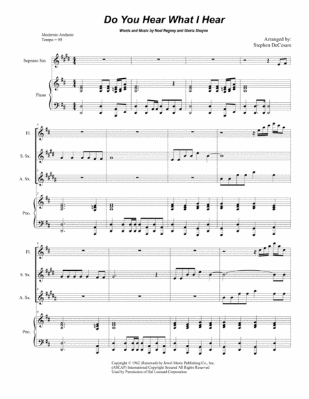 Do You Hear What I Hear (Duet for Soprano and Alto Saxophone)