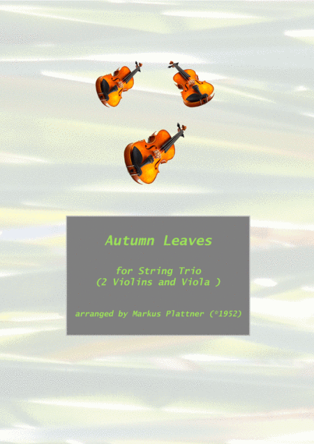 Autumn Leaves for String Trio