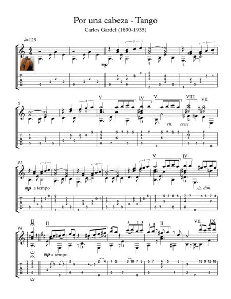 Por una Cabeza Guitar tango