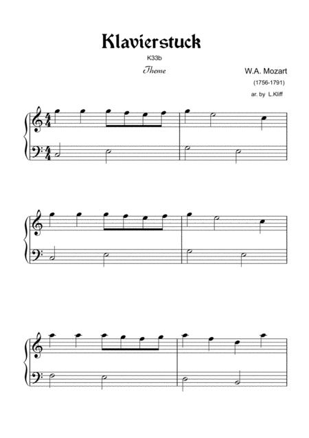 Klavierstück in F