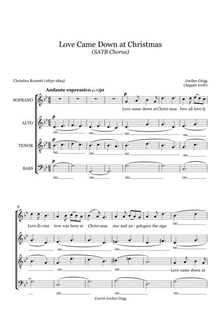 Love Came Down at Christmas (SATB Chorus)