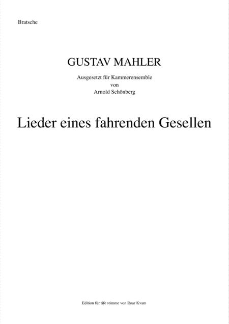 Mahler/Schönberg: Lieder Eines Fahrenden Gesellen ( Chamber Ensemble and Bass voice)