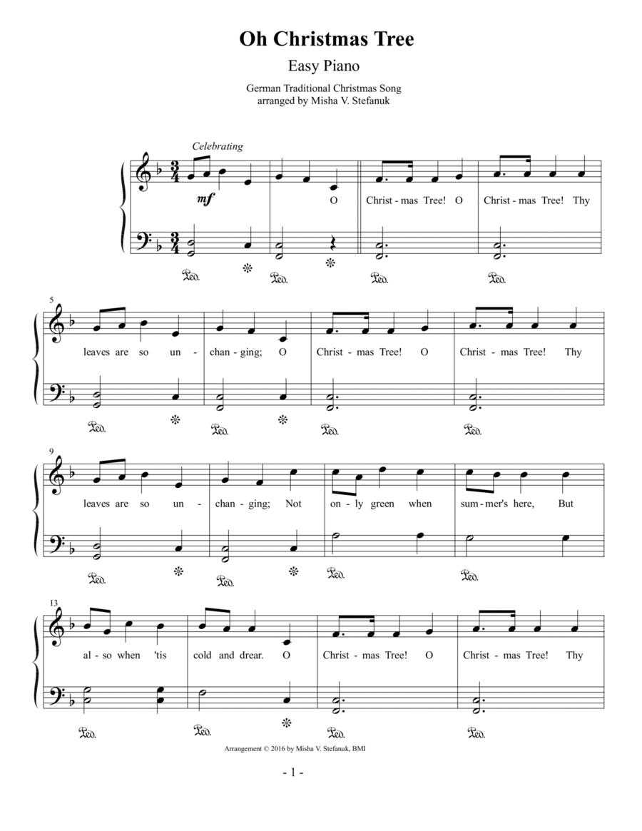 Oh Christmas Tree, Easy Piano