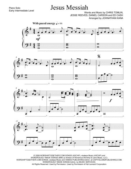 Jesus Messiah (worship piano solo)