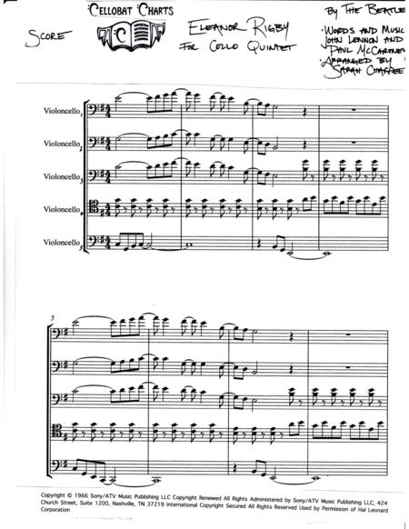 Eleanor Rigby - Cello Quintet - The Beatles