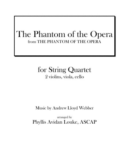 The Phantom Of The Opera for STRING QUARTET