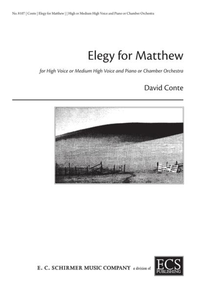 Elegy for Matthew  (Piano/Vocal Score)