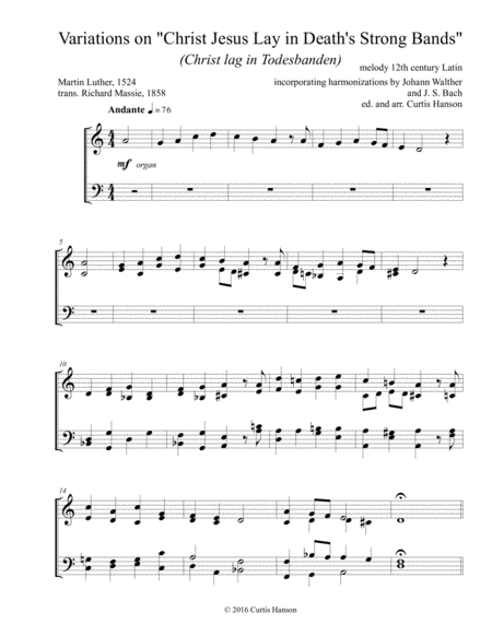Christ Jesus Lay in Death's Strong Bands (SATB)