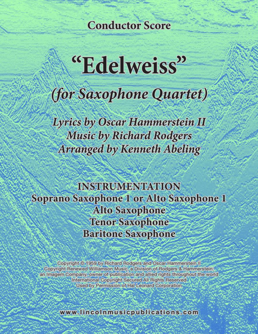 Edelweiss (for Saxophone Quartet SATB or AATB)