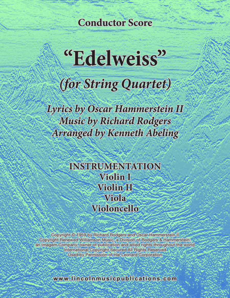 Edelweiss (for String Quartet)