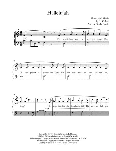 Hallelujah - Easy/Beginner Piano