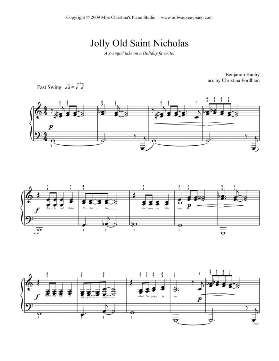 Jolly Old Saint Nicholas (Jazz Easy Piano)