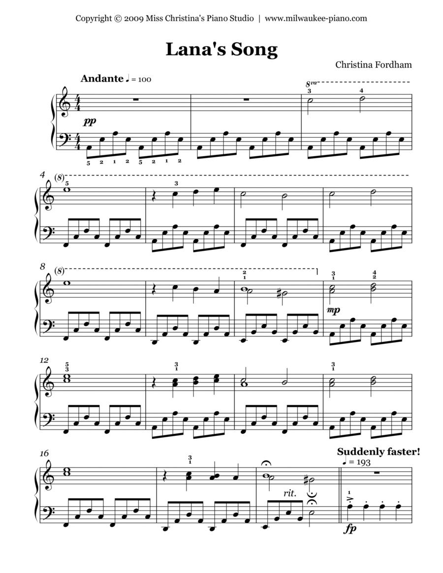 Lana's Song (Easy Piano Solo)