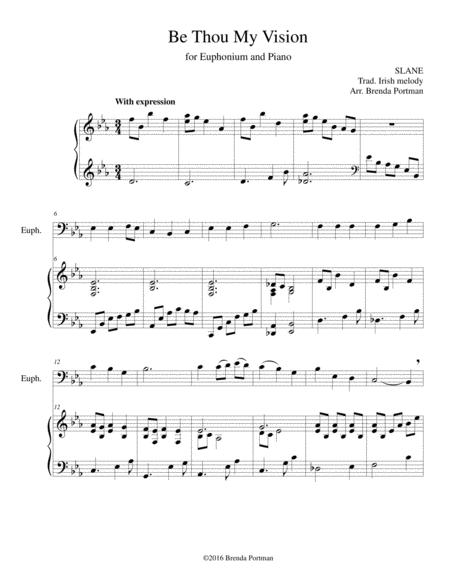 Be Thou My Vision (euphonium/piano), arr. Brenda Portman