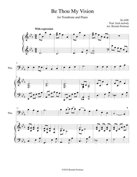Be Thou My Vision (trombone/piano), arr. Brenda Portman
